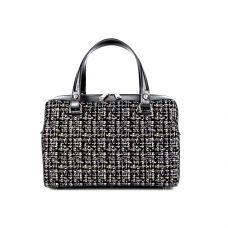 Классическая женская кожаная сумка ASSA, черно-белого цвета