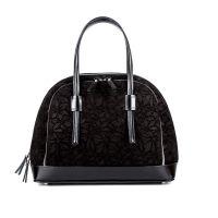 Деловая женская кожаная сумка ASSA, с черным цветочным принтом