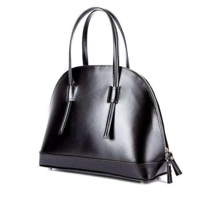 Деловая женская кожаная сумка ASSA, с черным цветочным принтом 1093б.
