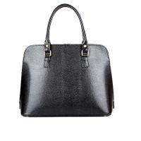 Деловая женская кожаная сумка ASSA, черного цвета