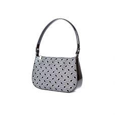 Молодёжная женская кожаная сумка ASSA, с черно-белым геометрическим принтом