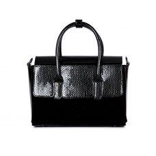 сумка женская/игуана черная/лак/замш