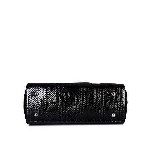 сумка женская/игуана черная/лак/замш 1264-1