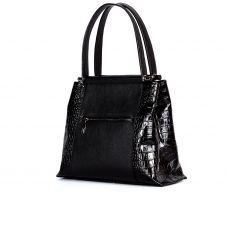 сумка женская/принц черный/крокодил