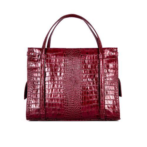 """сумка женская/бордо """"крокодил"""" 1269-1"""