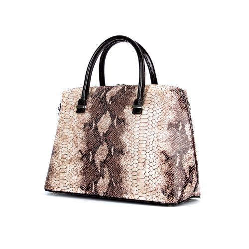 сумка женская/ 11692/ коричневый лак 1087-6