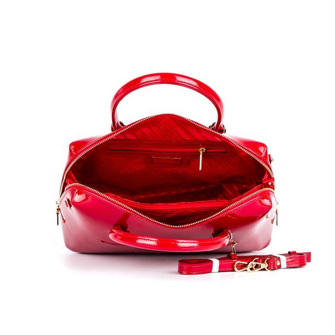 сумка женская/ красный лак 1087-7