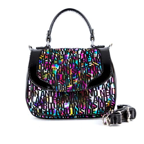сумка женская/8290/черный лак 519