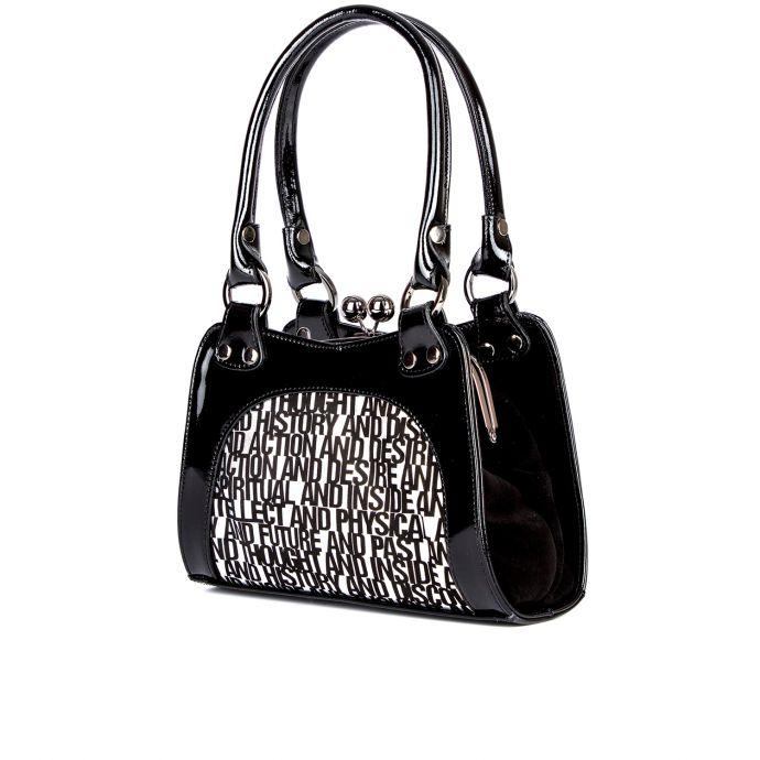 сумка женская/16402/черный лак 344
