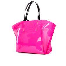 сумка женская/лакированная розовая