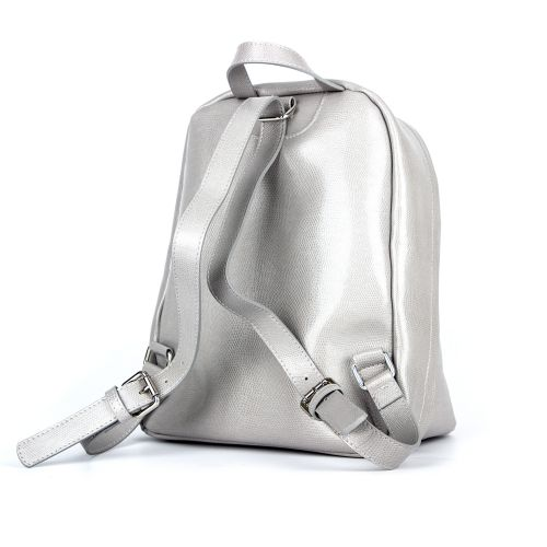 рюкзак/серая кожа под ящерицу 1055б.-1