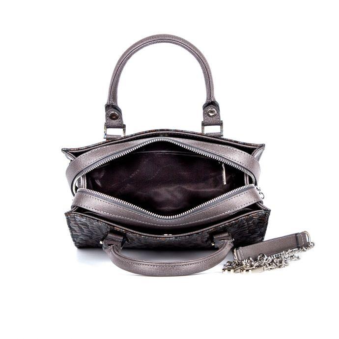 Женская кожаная сумка ASSA, с коричневым змеиным принтом 1221-1