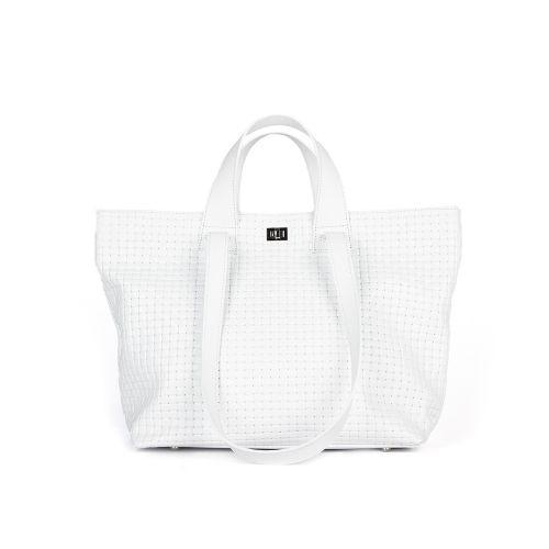 сумка женская/плетенка белая 1258-1