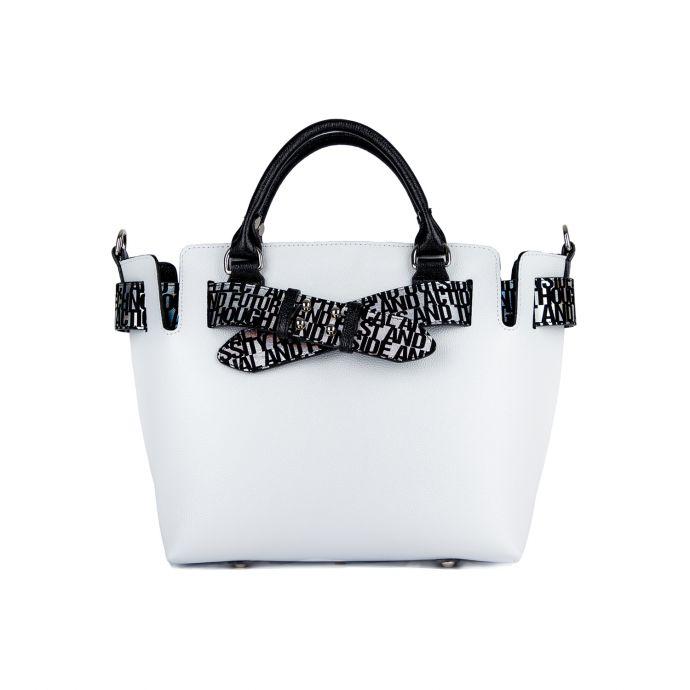 сумка женская/флотар кристалл белый, черный  1169-4