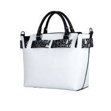 сумка женская/флотар кристалл белый, черный