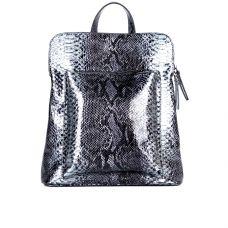 Женский городской кожаный рюкзак ASSA, с серым змеиным принтом