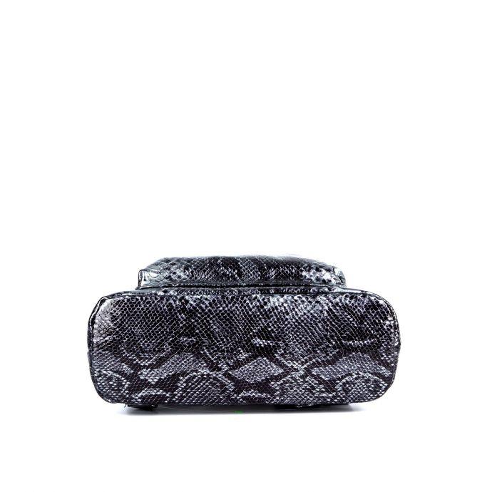 Женский городской кожаный рюкзак ASSA, с серым змеиным принтом 929