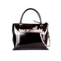 Молодёжная женская кожаная сумка ASSA, тёмно бордового цвета
