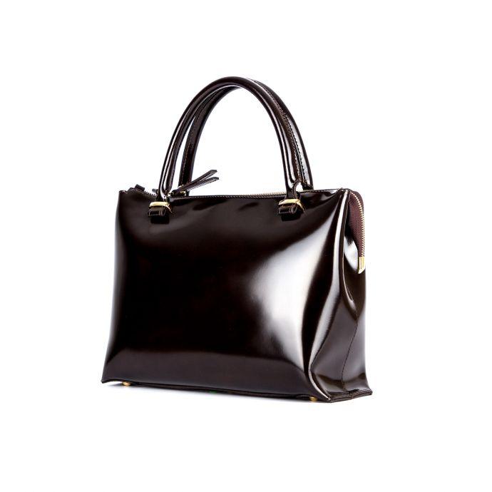 Молодёжная женская кожаная сумка ASSA, тёмно бордового цвета 1033м.