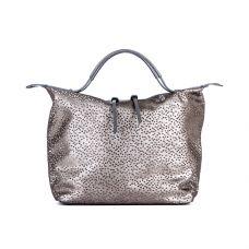 Повседневная женская кожаная сумка ASSA, серебристого цвета