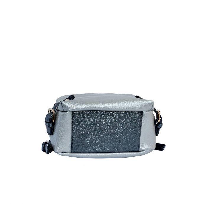 Женский городской кожаный рюкзак ASSA, серого цвета 1109/2-2