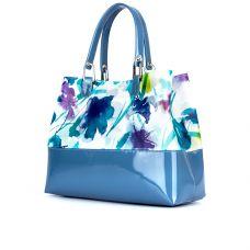 сумка женская/ирис голубой/лакированная кожа