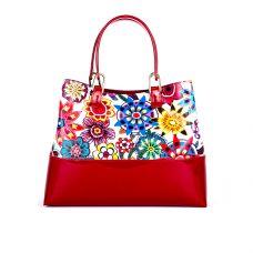 сумка женская/brasilia красная/красный лак