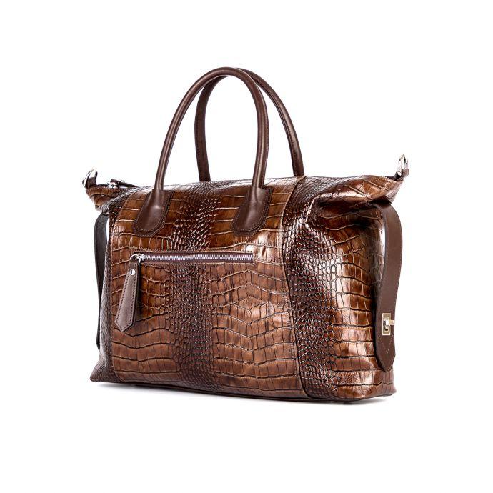 сумка женская/крокодил коричневый 1259-1