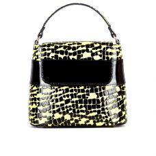 сумка женская/черно-желтая