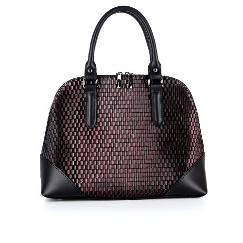 Классическая женская кожаная сумка ASSA, с геометрическим принтом 1170-1